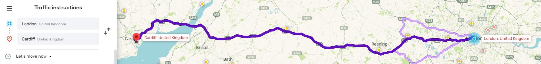WAZE route planner
